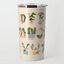 House Plant Alphabet Travel Mug