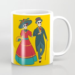 Catrina Couple Mexican Day Of The Dead Coffee Mug