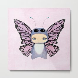 A Boy - Butterfly Metal Print