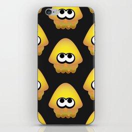 Splatoon Squid Pattern Yellow iPhone Skin