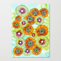 Floating Flower Pods Canvas Print