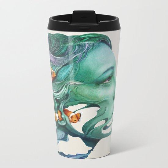 Actinodendron Plumosum Metal Travel Mug