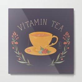 Vitamin Tea Metal Print