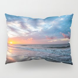 Daybreak at Hilton Head - Sunrise Along Beach at Hilton Head Island in South Carolina Pillow Sham