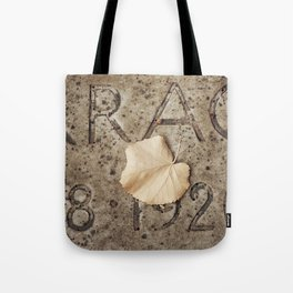 Letters and Leaf Tote Bag