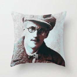 James Joyce Throw Pillow
