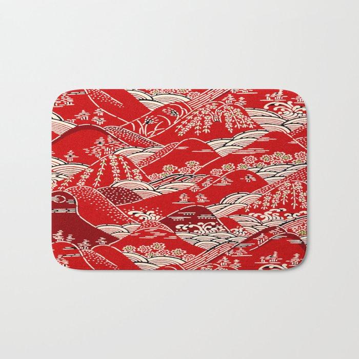 Red Mountains Bath Mat