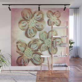 Flower Hive Pink Wall Mural