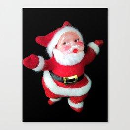 Retro Santa Ornament  Canvas Print