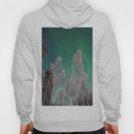 Northern Lights and White Trees (Color) Hoody