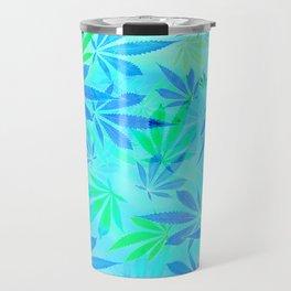 Blue Mint Cannabis Swirl Travel Mug