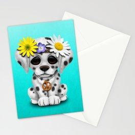 Cute Dalmatian Puppy Hippie Stationery Cards