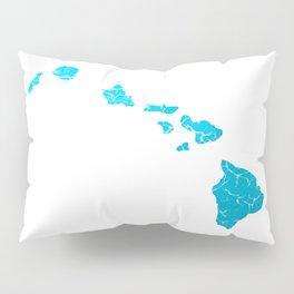 hawaii map Pillow Sham