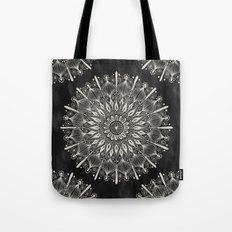 Vintage Mandala on black Tote Bag