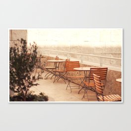 Getty Museum - Table with a view Canvas Print
