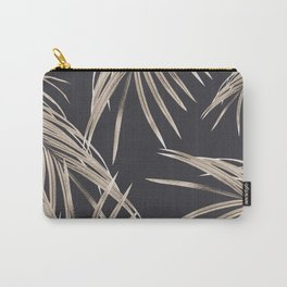 Sepia Palm Leaves Dream #1 #tropical #decor #art #society6 Carry-All Pouch