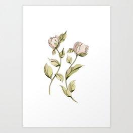 Dancing Roses Art Print