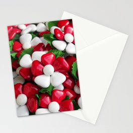 Flowers with sugared almonds as petals. Stationery Cards