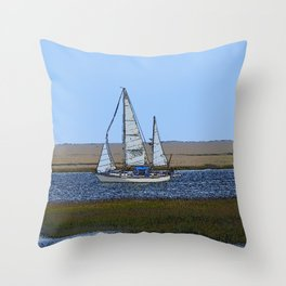Set Sails For Florida For the Winter Throw Pillow