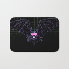 Neon Bat Bath Mat