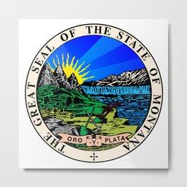 State Seal of Montana Metal Print