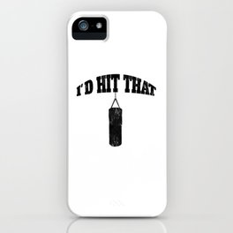 Funny Distressed Hit That Boxing Kickboxing Fitness Training iPhone Case