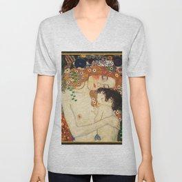 Mother and Baby - Gustav Klimt Unisex V-Neck