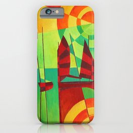 Chinese Junks On Still Waters iPhone Case