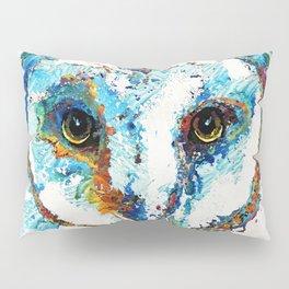 Colorful Barn Owl Art - Birds by Sharon Cummings Pillow Sham