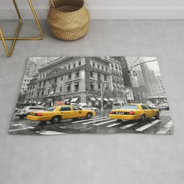 New York City 5th Avenue Yellow Cabs Rug