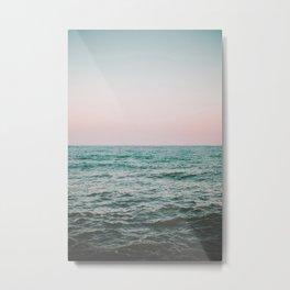 blush ocean Metal Print