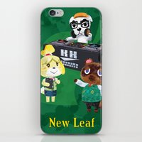 animal crossing iPhone & iPod Skins featuring Animal Crossing: New Leaf by Salzburn Designs Shop