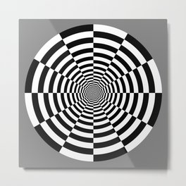 Sliced Circle Target Metal Print