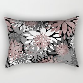 Pretty rose gold floral illustration pattern Rectangular Pillow