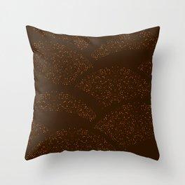 Sparkling Hills - Brown Throw Pillow