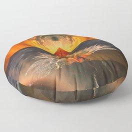 Surreal world Floor Pillow