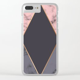 Marble Geometry 018 Clear iPhone Case