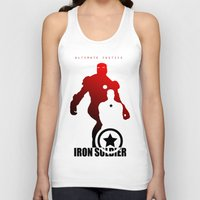 justice league Tank Tops featuring Justice League by metalcharisma