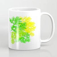 fern Mugs featuring Fern by Sreetama Ray