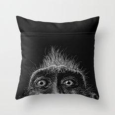 Monkey Surprise Throw Pillow