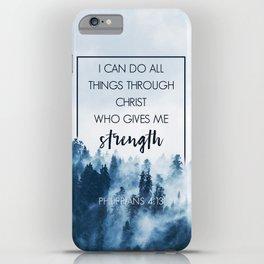 Forest Philippians 4:13 iPhone Case