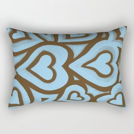 Funky Abstract Zendoodle Hearts Warhol Rectangular Pillow
