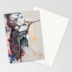 seehorse by carographic Stationery Cards