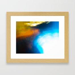 winter hot tub Framed Art Print