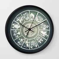 "zodiac Wall Clocks featuring ""Zodiac"" by DiegoC"