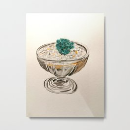 Cactus in an ice cream bowl Metal Print