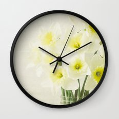Dreamy Flowers Wall Clock
