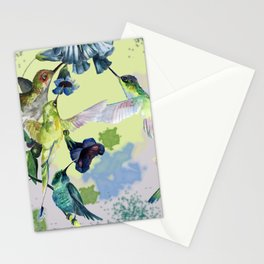 Hummingbirds in spring Stationery Cards