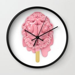Popsicle brain melting Wall Clock