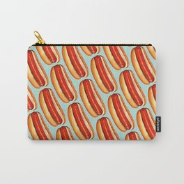 Hot Dog Pattern Carry-All Pouch